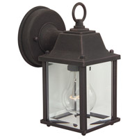 Craftmade Z192-RT Coach Lights 1 Light 9 inch Rust Outdoor Wall Lantern in Incandescent, Small