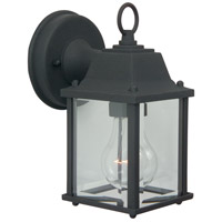 Craftmade Z192-TB Coach Lights 1 Light 9 inch Textured Matte Black Outdoor Wall Lantern in Incandescent, Small