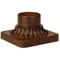 Exteriors by Craftmade Pier Base Pole Adapter in Aged Bronze Z200-98