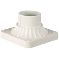 Craftmade Z200-TW Craftmade 4 inch Brushed Aluminum Outdoor Post Head Adapter in Textured Matte White