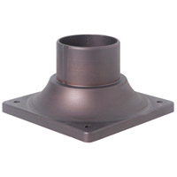 Signature 3 inch Aged Bronze Brushed Outdoor Pier Base