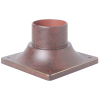 Signature 3 inch Aged Bronze Textured Outdoor Pier Base