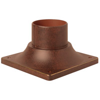 Craftmade Z202-AG Craftmade 3 inch Brushed Aluminum Outdoor Post Head Adapter in Aged Bronze Textured