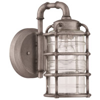 Craftmade Z2114-AGV Hadley 1 Light 12 inch Aged Galvanized Outdoor Wall Lantern, Small