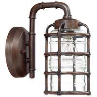 Craftmade Z2114-ABZ Hadley 1 Light 12 inch Aged Bronze Brushed Outdoor Wall Lantern, Small