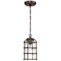 Craftmade Z2121-ABZ Hadley 1 Light 8 inch Brushed Aluminum Outdoor Pendant in Aged Bronze Brushed, Medium