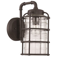 Hadley 1 Light 14 inch Aged Bronze Brushed Outdoor Wall Mount