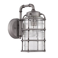 Hadley 1 Light 14 inch Aged Galvanized Outdoor Wall Mount