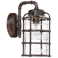 Craftmade Z2124-ABZ Hadley 1 Light 14 inch Aged Bronze Brushed Outdoor Wall Lantern, Medium