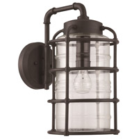 Hadley 1 Light 17 inch Aged Bronze Brushed Outdoor Wall Lantern, Large