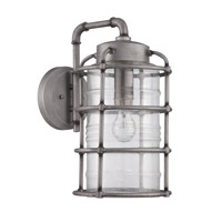 Hadley 1 Light 17 inch Aged Galvanized Outdoor Wall Mount