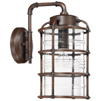 Craftmade Z2134-ABZ Hadley 1 Light 17 inch Aged Bronze Brushed Outdoor Wall Lantern, Large