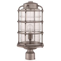 Hadley 1 Light 18 inch Aged Galvanized Outdoor Post Light