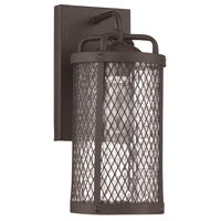 Craftmade Z2204-MBKG Blacksmith 1 Light 13 inch Matte Black Gilded Outdoor Wall Lantern, Small
