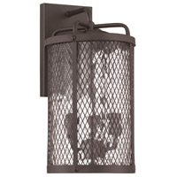 Craftmade Z2214-MBKG Blacksmith 3 Light 14 inch Matte Black Gilded Outdoor Wall Lantern in Water, Medium