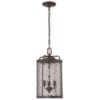 Blacksmith 3 Light 10 inch Matte Black Gilded Outdoor Pendant in Water