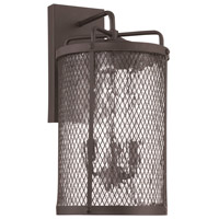 Blacksmith 3 Light 18 inch Matte Black Gilded Outdoor Wall Mount in Water