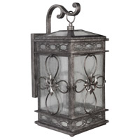 Edinburgh 2 Light 18 inch Dark Granite Outdoor Wall Lantern, Small