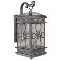 Edinburgh 3 Light 23 inch Dark Granite Outdoor Wall Lantern, Medium