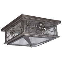 Craftmade Z2317-DG Edinburgh 2 Light 13 inch Dark Granite Outdoor Flushmount, Large