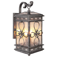 Craftmade Z2324-DG Edinburgh 3 Light 28 inch Dark Granite Outdoor Wall Lantern, Large