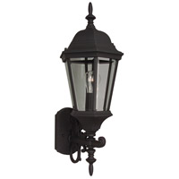 Exteriors by Craftmade Straight Glass 1 Light Outdoor Wall Mount in Matte Black Z250-05