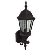 Exteriors by Craftmade Straight Glass 1 Light Outdoor Wall Mount in Rust Z250-07