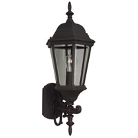 Craftmade Z250-TB Straight Glass 1 Light 24 inch Textured Matte Black Outdoor Wall Lantern, Medium