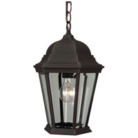 Exteriors by Craftmade Straight Glass 1 Light Outdoor Pendant in Rust Z251-07