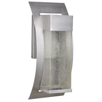 Ontario LED 15 inch Brushed Titanium Outdoor Wall Lantern, Medium