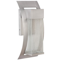 Ontario LED 19 inch Brushed Titanium Outdoor Wall Lantern, Large