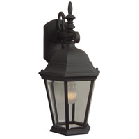 Craftmade Z254-TB Straight Glass 1 Light 18 inch Textured Matte Black Outdoor Wall Lantern, Medium