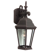 Craftmade Z254-RT Straight Glass 1 Light 18 inch Rust Outdoor Wall Lantern, Medium