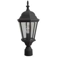 Exteriors by Craftmade Straight Glass 1 Light Post Mount in Matte Black Z255-05
