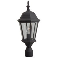 Craftmade Z255-TB Straight Glass 1 Light 22 inch Textured Matte Black Outdoor Post Light, Medium