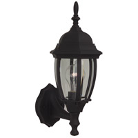 Exteriors by Craftmade Bent Glass 1 Light Outdoor Wall Mount in Matte Black Z260-05