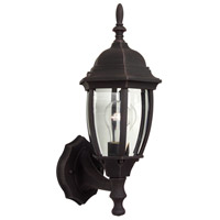 Exteriors by Craftmade Bent Glass 1 Light Outdoor Wall Mount in Rust Z260-07