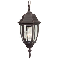 Exteriors by Craftmade Bent Glass 1 Light Outdoor Pendant in Rust Z261-07