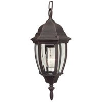 Craftmade Z261-RT Bent Glass 1 Light 7 inch Rust Outdoor Pendant, Small