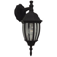Exteriors by Craftmade Bent Glass 1 Light Outdoor Wall Mount in Matte Black Z264-05