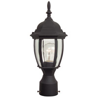 Exteriors by Craftmade Bent Glass 1 Light Post Mount in Matte Black Z265-05