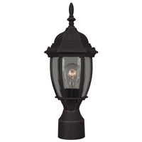 Exteriors by Craftmade Bent Glass 1 Light Post Mount in Rust Z265-07