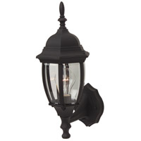 Craftmade Z268-TB Bent Glass 1 Light 16 inch Textured Matte Black Outdoor Wall Lantern Small