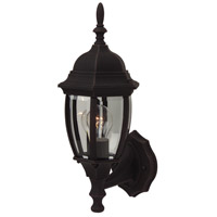 Exteriors by Craftmade Bent Glass 1 Light Outdoor Wall Mount in Rust Z268-07