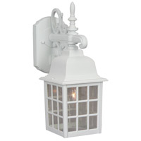 Exteriors by Craftmade Grid Cage 1 Light Outdoor Wall Mount in Matte White Z270-04