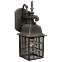 Craftmade Z270-RT Grid Cage 1 Light 15 inch Rust Outdoor Wall Lantern, Medium