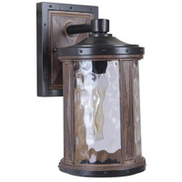 Madera 1 Light 13 inch Textured Black/Whiskey Barrel Outdoor Wall Mount, Exteriors