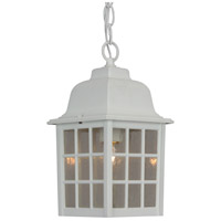 Grid Cage 1 Light 6 inch Matte White Outdoor Pendant
