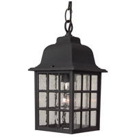 Grid Cage 1 Light 6 inch Matte Black Outdoor Pendant