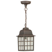 Grid Cage 1 Light 6 inch Rust Outdoor Pendant